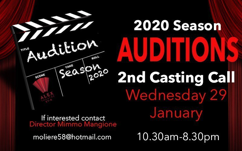 Casting call - Auditions 2020